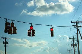 Red LIghts hanging